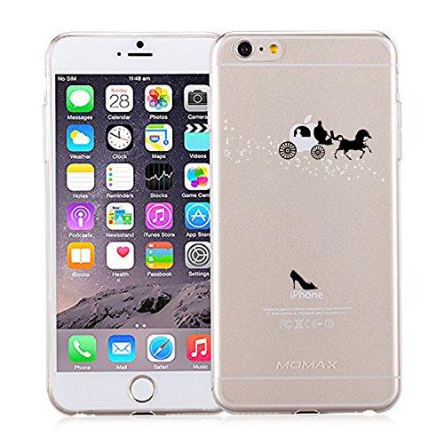 Qissy®iPhone 6 / 6S Hülle (4,7 Zoll), Qissy® Transparent Weiche Silikon Schutzhülle TPU Bumper Case Leichte kratzfeste stoßdämpfende Hülle für iPhone 6/6s (iPhone6/6S, 3) 3