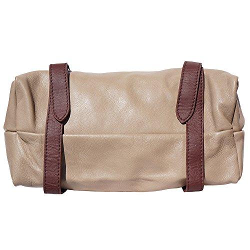 sac à èpaule avec rabat 6141 Tupe clair-marron
