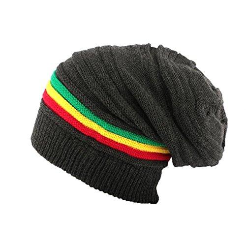 Lon Montane–Gorro Rasta gris Long Jamaica hombre/mujer gris Talla única