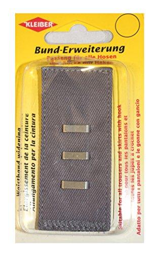 Kleiber 2,5-5 cm Bunderweiterung mit Haken und Ösen, grau