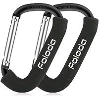 Juego de Gancho de Cochecito para Pram-Foloda Multi-propósito Pesado D-Ring Clip para Colgar Pañales, Bolsas de Compras (Negro)