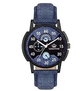 Limestone Analogue Multi-Colour Dial Men's Watch -Ls2634