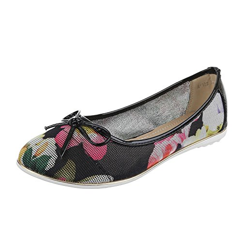 Ital-Design - Ballerine Donna Multicolore (Nero/Multicolore)