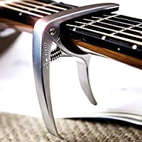 Adagio PRO DELUXE CAPO Suitable For Acoustic & Electric Guitars With Quick Release And Peg Puller In Silver RRP £10.99 - Retail Packed