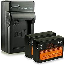 Cargador + 2x ExtremeWolf Batería ED-BP1030 para Samsung NX200 | NX210 | NX300 | NX300M | NX310 | NX500 | NX1000 | NX1100 | NX2000