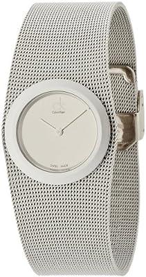 Calvin Klein–Reloj de pulsera analógico para mujer cuarzo acero inoxidable K3T23126