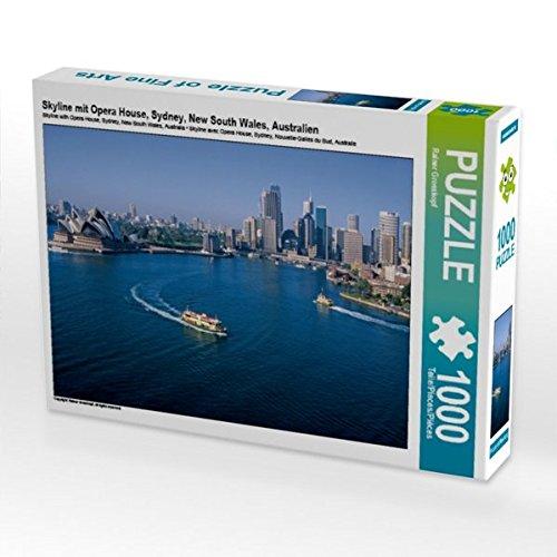 Skyline mit Opera House, Sydney, New South Wales, Australien 1000 Teile Puzzle quer