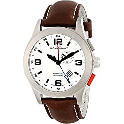 Momentum Men's Quartz Watch VORTECH GMT 1M-SP58L2C with Leather Strap