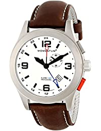 Momentum Herren-Armbanduhr XL VORTECH GMT Analog Quarz Leder 1M-SP58L2C