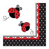 erdbeerloft - Servietten Kindergeburtstag Party Marienkäfer Ladybug, Mehrfarbig