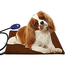 Bello Luna colchonetas calefactoras para Mascotas Cojín térmico Antiadherente Impermeable Temperatura Ajustable para Perros Gato 12V