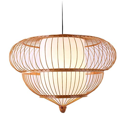 YLCJ Kronleuchter Mode Handgemachte Bambus Lampe Retro Laterne Lampe Handgemachte Kreative Bambus Kronleuchter, 70 * 45 cm Einfache Innenausstattung