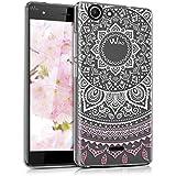 "kwmobile Funda para Wiko Pulp (5"") - Case para móvil en TPU silicona - Cover trasero Diseño sol indio en rosa claro blanco transparente"