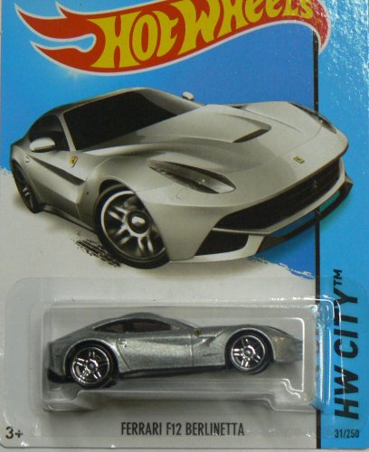 Hot Wheels HW City Ferrari F12 Berlinetta - Silver by Hot Wheels