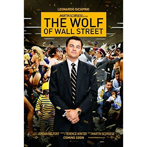 The Wolf of Wall Street (2013) 24X36 Movie Poster (THICK) - Leonardo DiCaprio, P.J. Byrne, Jon Favreau by World Mall