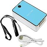 Mini condizionatore d'aria di viaggio Handheld USB ricaricabile ventilatore per l'estate (blu) di raffreddamento immagine