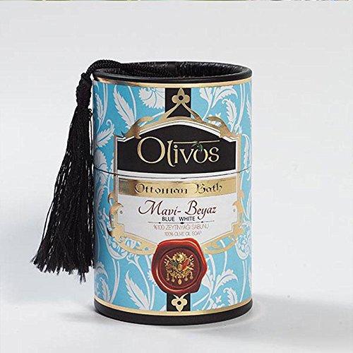 OLIVOS Ottoman Bath Savon Blue-White 2 x 100 g
