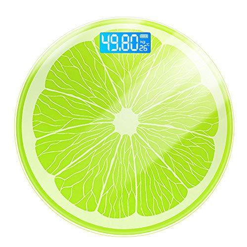 Badezimmerwaage Körpergewicht Hohe Härte Tempered Glas Lemon Electronic Skala (Free Porto)