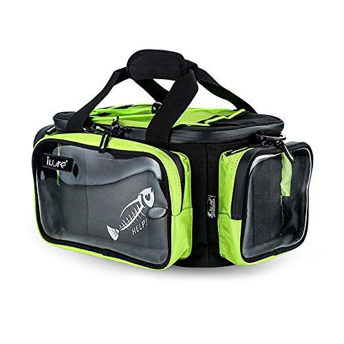 Lixada borsa di pesca sacchetto di spalla di pesca all'aperto attrae il sacchetto di immagazzinaggio di utilità della scatola di imbracatura