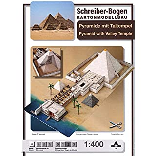 Aue-Verlag 70 x 30 x 13 cm Pyramid with Valley Temple Model Kit
