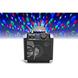 iDance Cube BC10 50 PMPO W Speaker System with Built-In Lightshow - schwarz