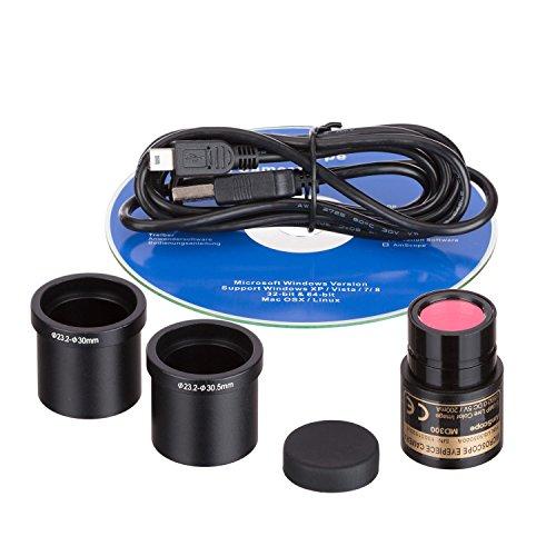 amscope md300-ck 3.0MP USB noch & Live Video Mikroskop Imager Digital Kamera + Kalibrierung Kit