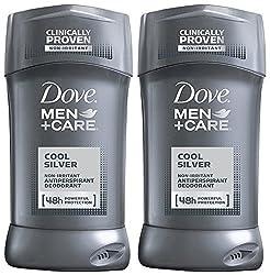 Dove Men + Care Cool Silver Antiperspirant Deodorant 2.7 Oz (Pack Of 2)