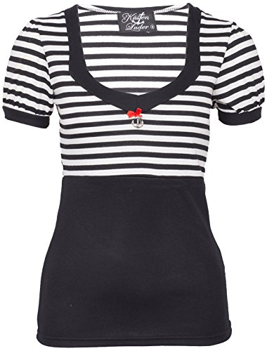 Küstenluder JANAE Retro Sailor STRIPED Streifen Puff Sleeve SHIRT Rockabilly