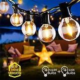 Guirlande Lumineuse Extérieur, FOCHEA 9.5M Guirlande GuinguetteIP44 Étanche Raccordable Ultra-longue 25 G40 LED Ampoules avec 3 Ampoules Rechange pour Fête Jardin Mariage Patio Terrasse