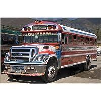 Stampa su tela 120 x 80 cm: Chicken bus, Antigua