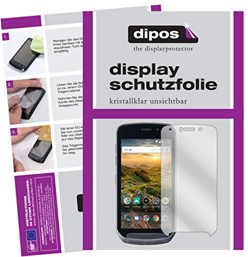 dipos I 2X Schutzfolie klar passend für Land Rover Explore Folie Displayschutzfolie Glas Land-glas