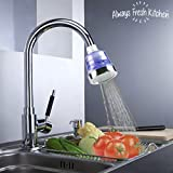 Always Fresh Kitchen Clean Water Tap Filter Rubinetto ecologico da cucina, Argento, 6.5 x 6.5 x 8 cm