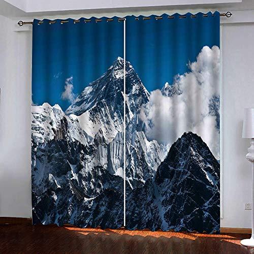 Qhjiafang tenda oscurante con occhiellipilastro di pietra tende oscuranti per il trattamento della finestra per soggiorno, camera da letto, hotel:2xl140xa180cm