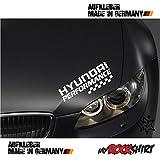 myrockshirt Hyundai Performance adhesivo 30 x 10 cm ma108 Tuning Pegatinas Pegatinas con kit de