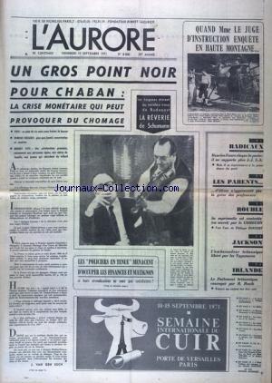 AURORE (L') [No 8406] du 10/09/1971