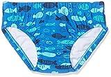 DIMO-TEX Sun Baby-Jungen Schwimmwindel Windelbadehose UV-Schutz 50, Mehrfarbig (AOP Fische), 68 (Herstellergröße: 62/68)