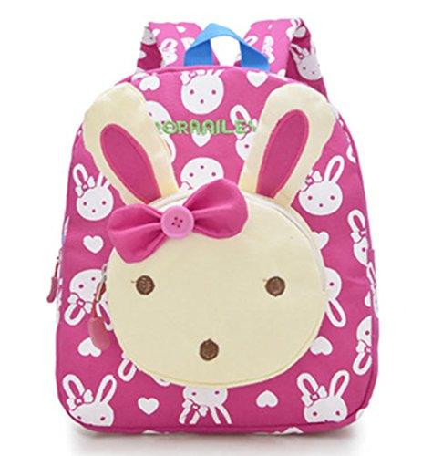 Scheppend animaux lapin livre sac à dos pour bébé filles mignonnes sac d'école Rose