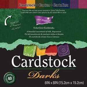 "Darice Paper Core'dinations Core Essentials Cardstock Pad 6 ""x 6"" ""40/Pkg-Darks-Pennarelli ad alcool"