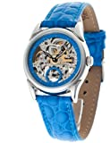 Yves Camani YC1036-E - Reloj analógico automático para Mujer con Correa de Piel, Color Azul