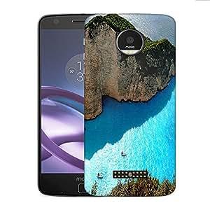 Snoogg Ocean On The Mountain Side Designer Protective Phone Back Case Cover For Motorola Moto Z