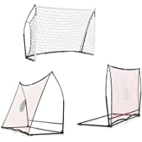 QUICKPLAY Elite Combo 3 in 1 - Portable Football Goal, Rebounder and Free Kick Wall