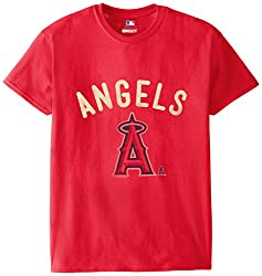MLB Los Angeles Angels Men's 58W Tee, Red, Large