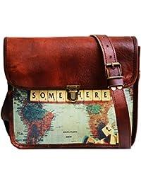 "Jaald 11"" Small Leather Messenger Bag Satchel Ipad Bag Shoulder Cross Bag"