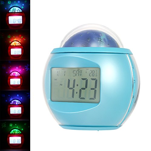 Anself Despertador Proyector Estrellas Reloj Snooze