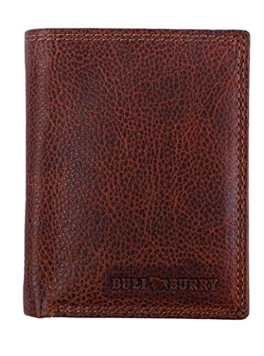 Geldbörse Herren Echt-Leder Geldbeutel mit RFID Schutz Schlanke Brieftasche mit Münztasche Ein Portemonnaie im Vintage-Style in einer geschmackvollen Geschenk-Box Art.-Nr. 222 NC 101 BULLBURRY - Vintage Bull