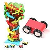Joyibay Rennstrecke für Kinder Kreatives 9 Schichten Baum Geformtes Bahn Spielzeug Rennen Spielzeug für Kinder