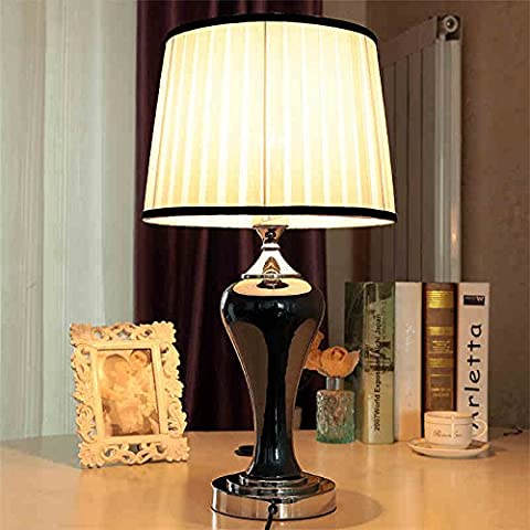 Semplice lampada rossa lusso matrimoniali base europea studio camera da letto moderna ed elegante soggiorno lampada da tavolo in ceramica