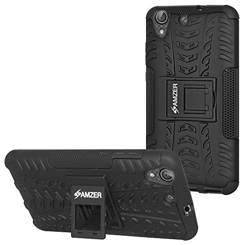AMZER Hybrid Warrior Case For Huawei Honor Holly 3 / Huawei Y6II - Black/ Black