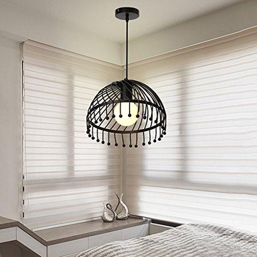 Luminaires suspendus Lampes de fer demi-cercle simple tête lustre salle à manger, chambre à coucher, bureau, lampes de salon (taille : 25 * 20cm)