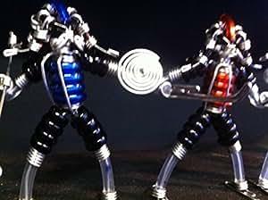 Predator Sculpture Figurines fait main à Partir de fils, ressorts, isolation Lot de 3 tailles-Predator Alien
